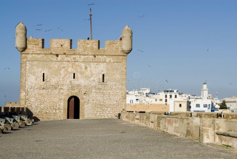 Rampart Essaouira, Marokko lizenzfreie stockbilder