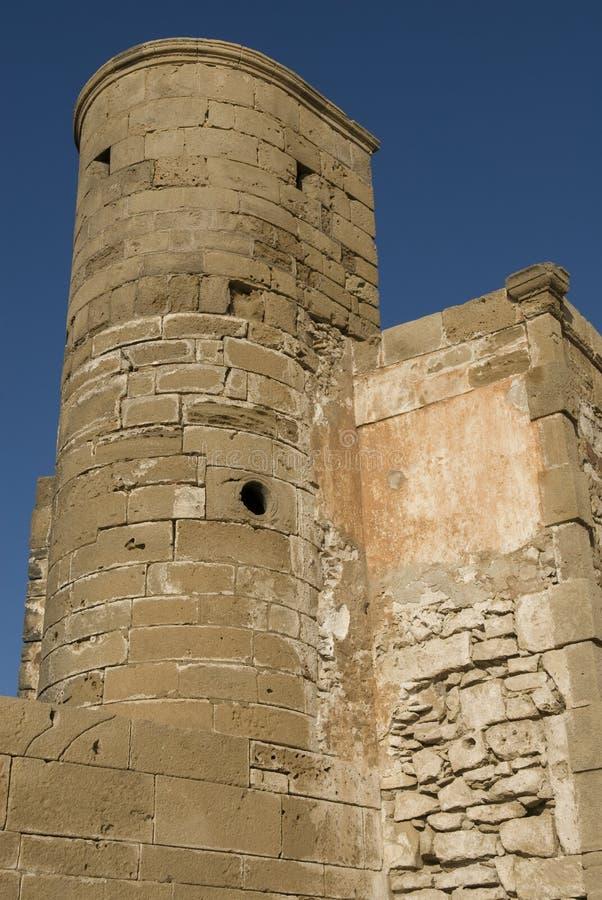 Rampart Essaouira, Marokko lizenzfreie stockfotografie