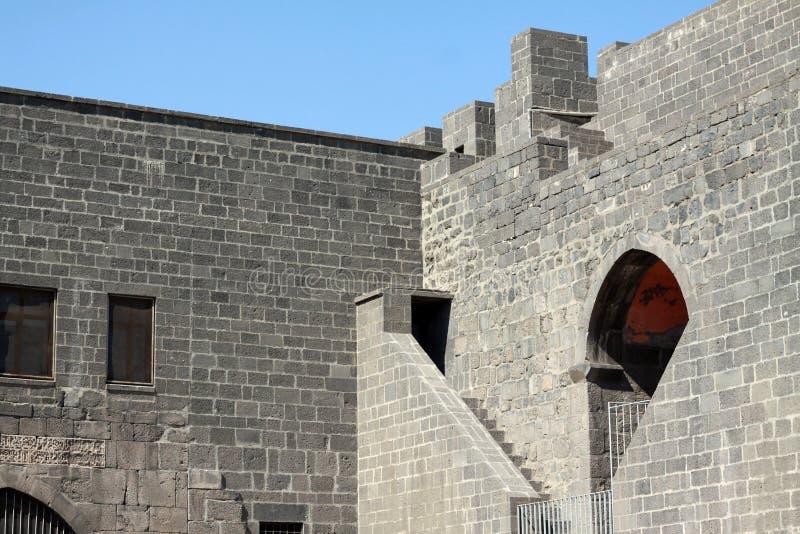 Rampart von Diyarbakir. stockfotos