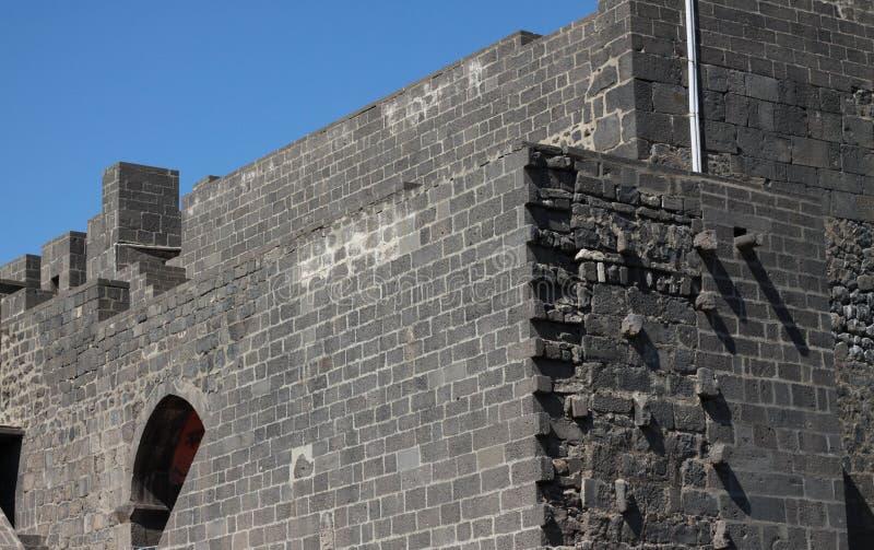 Rampart von Diyarbakir. lizenzfreie stockbilder