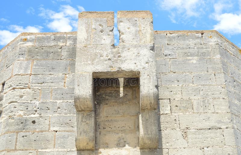 Ramparts Aigues-Mortes fotografia royalty free