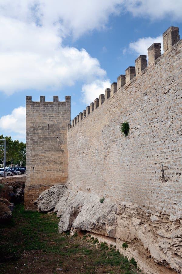 Ramparts Alcudia, Majorca zdjęcia stock