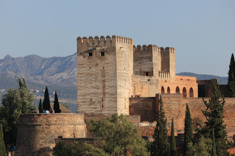 Ramparts of Alhambra. Ramparts of the Alhambra in Granada, Andalusia Spain stock image