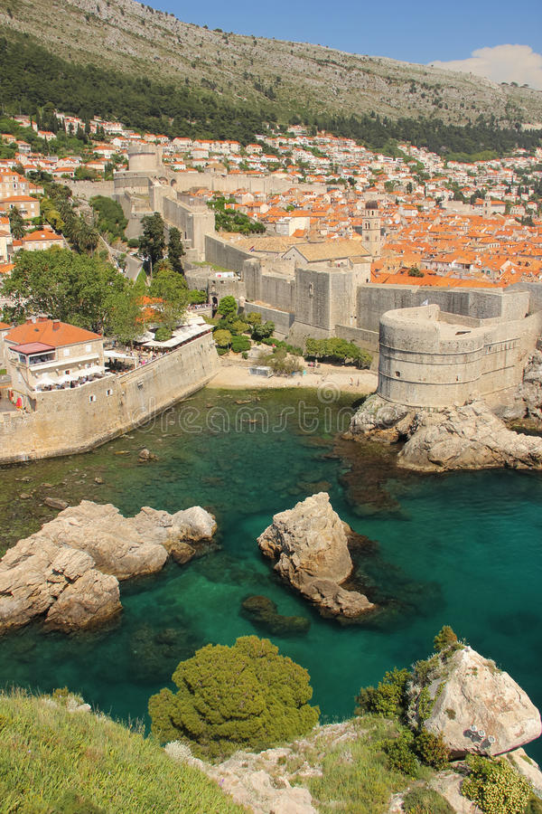 Ramparts and citadel. Dubrovnik. Croatia stock image