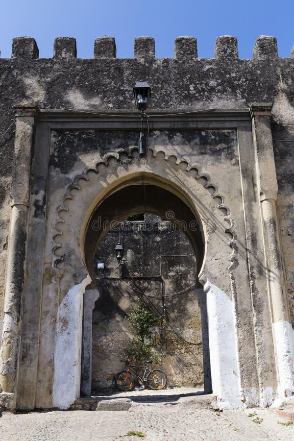 Ramparts i antyczny wejście Casbah, Tangier zdjęcie stock