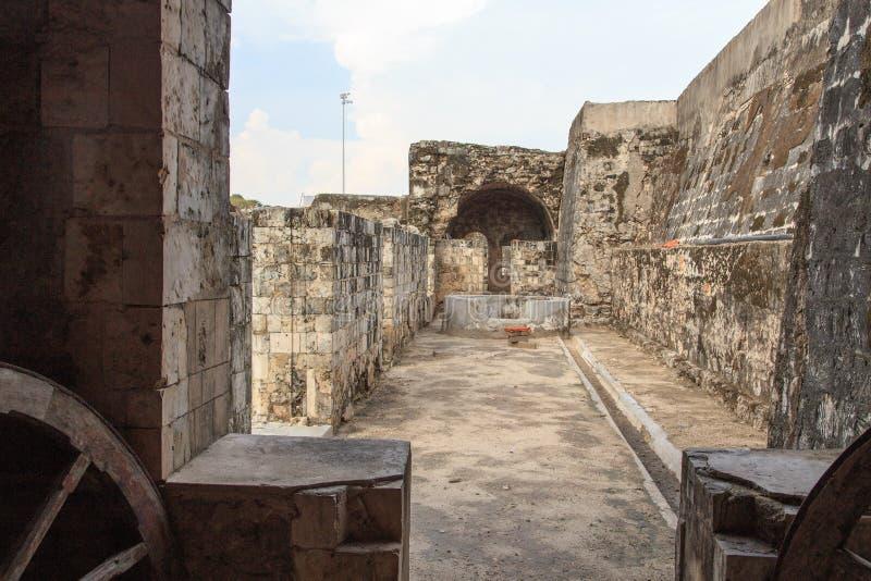 Ramparts Jaffna fort w Sri Lanka i ruiny zdjęcie royalty free