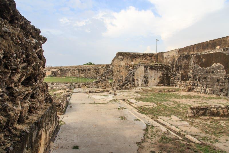 Ramparts Jaffna fort w Sri Lanka i ruiny obrazy stock