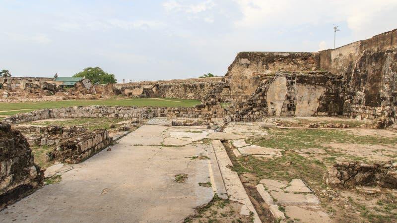 Ramparts Jaffna fort w Sri Lanka i ruiny zdjęcie stock