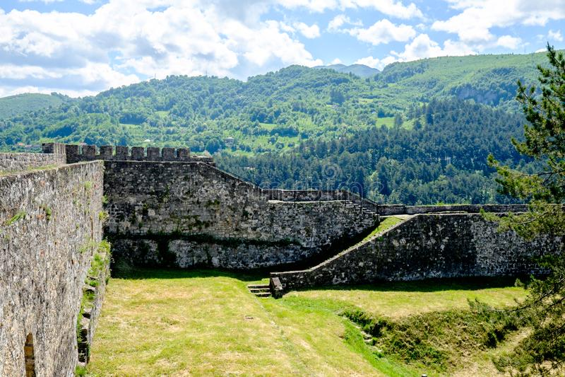 Ramparts Jajce forteca obrazy royalty free