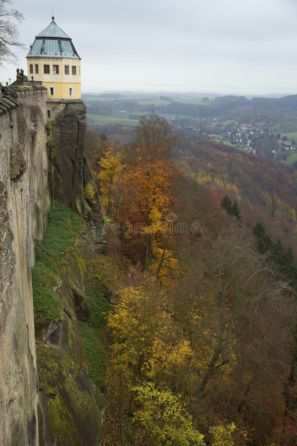 Ramparts Konigstein forteca fotografia royalty free