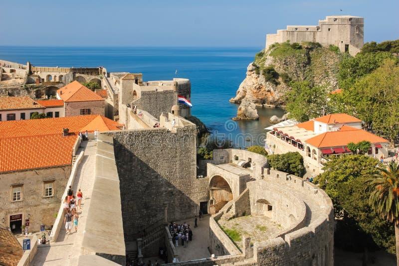 Ramparts Lovrijenac i fort dubrovnik Chorwacja obraz royalty free