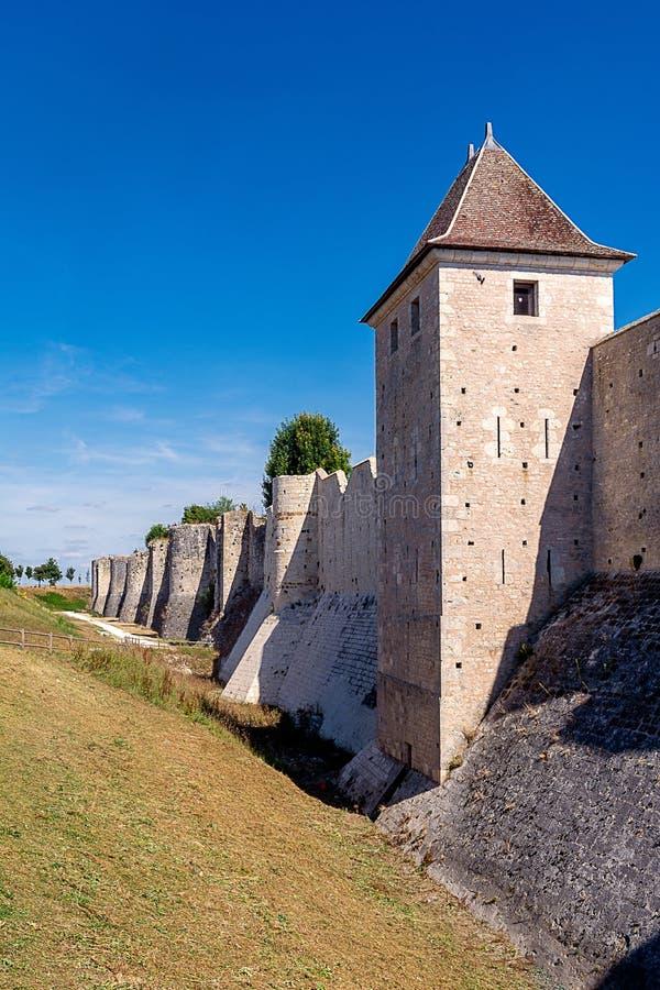 Ramparts Provins w Francja zdjęcie stock