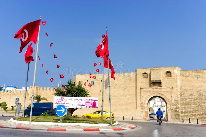 Ramparts Sousse i Qasaba, Tunezja fotografia royalty free