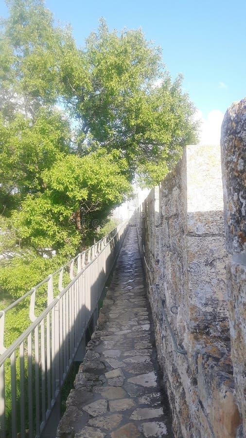 Ramparts spaceru miasta Jerozolimska stara ściana obrazy stock