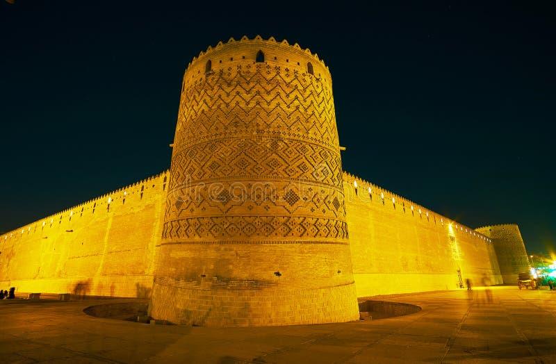 Ramparts stara cytadela w Shiraz, Iran obrazy royalty free