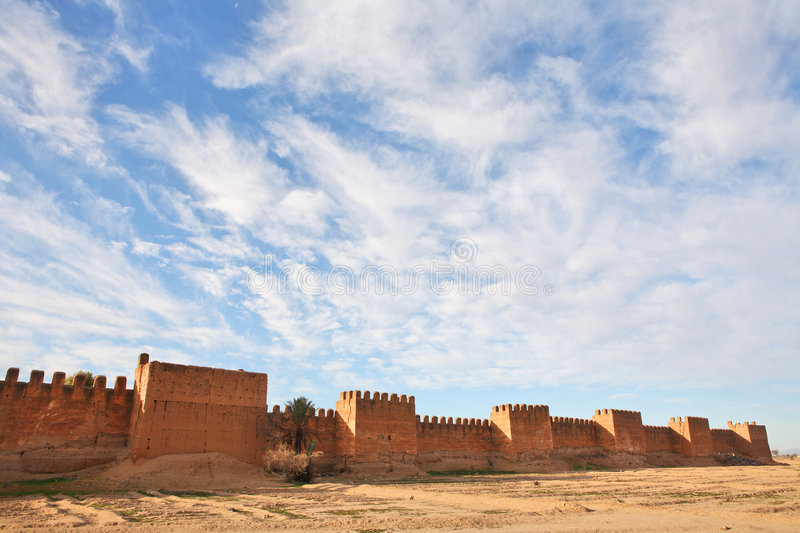 Ramparts of Taroudant. Town in Morocco royalty free stock photos