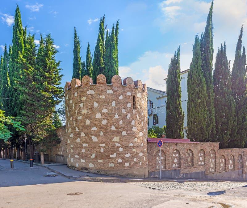Ramparts w Kala okręgu Tbilisi obrazy stock
