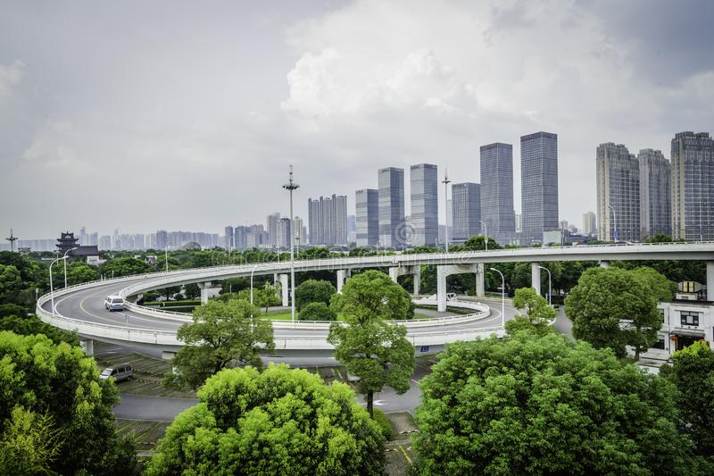 Rampe d'arc à l'île orange à Tchang-cha, Chine images stock