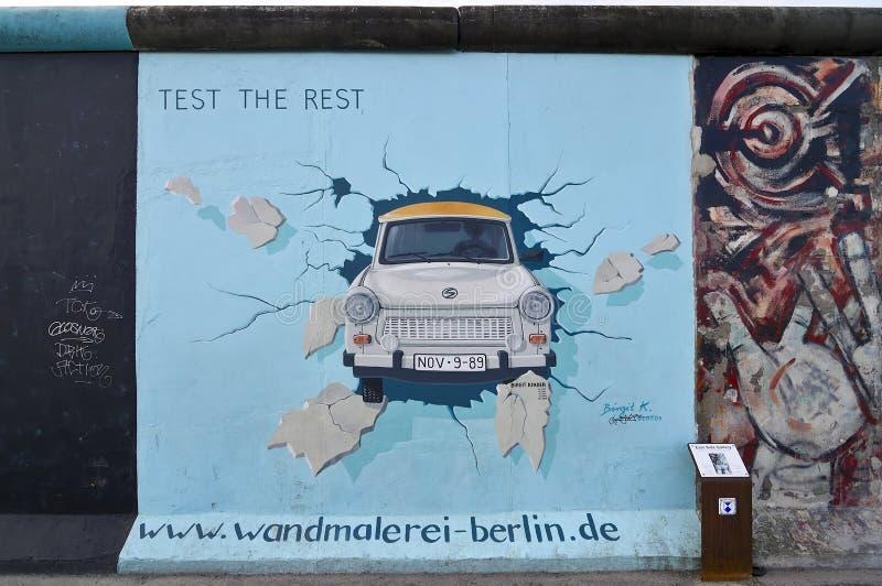 Rampe de côté est, Berlin image libre de droits