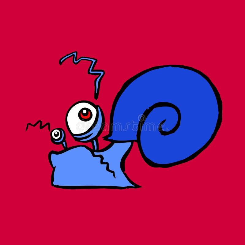 Rampement d'escargot de découpe de bande dessinée Illustration illustration libre de droits