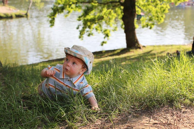 Rampement de petit garçon photographie stock