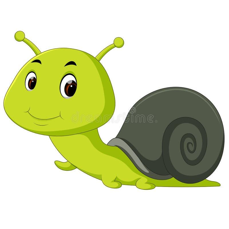 Rampement heureux d'escargot illustration de vecteur