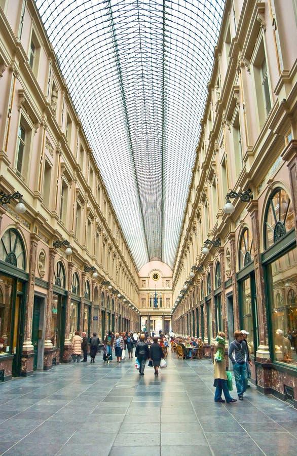Rampes royales de Saint-Hubert, Bruxelles image stock