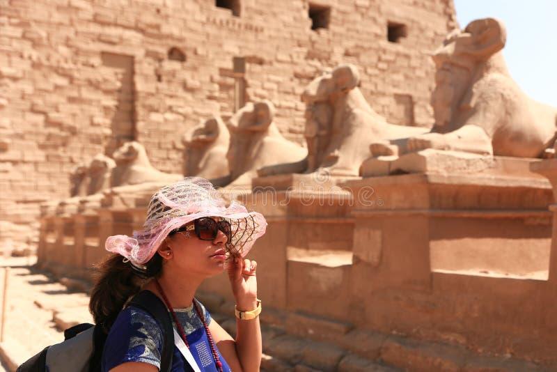 RAMs an Karnak-Tempel - Ägypten lizenzfreie stockbilder
