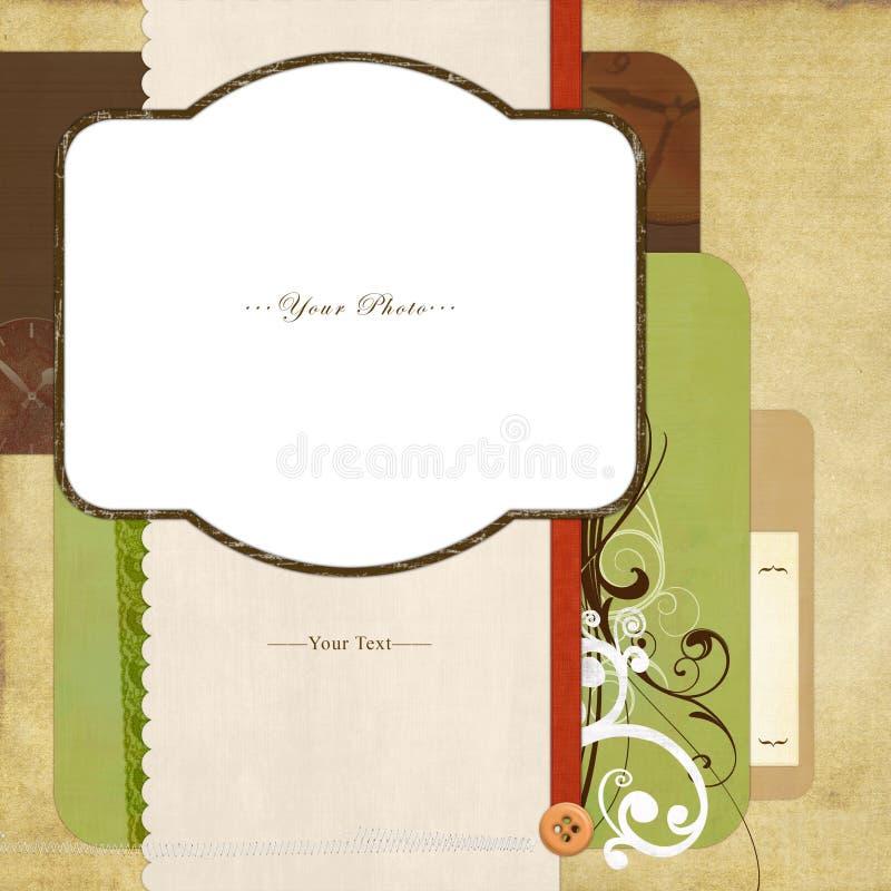 ramscrapbook royaltyfri illustrationer