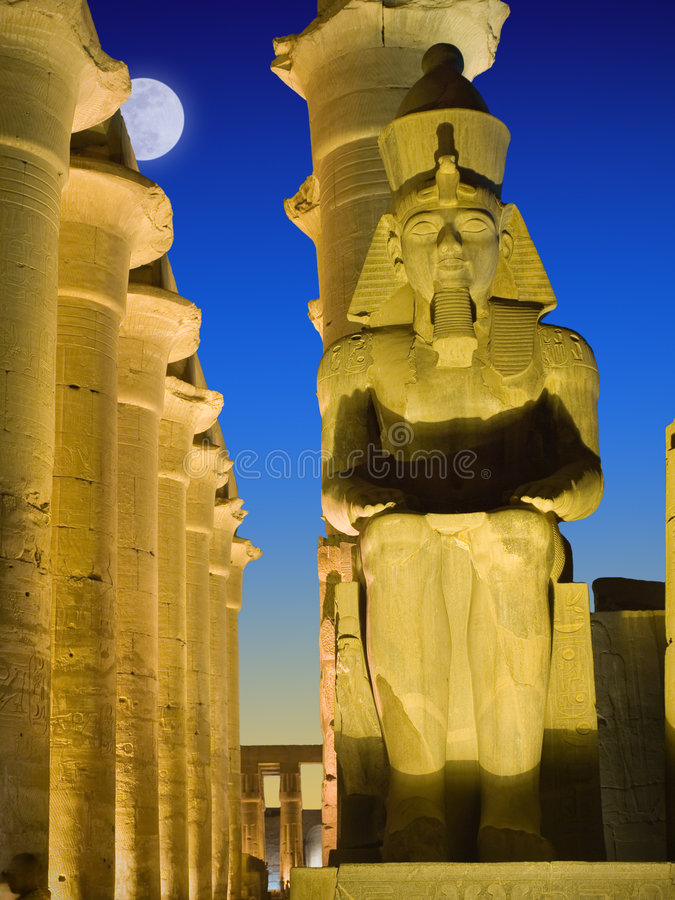 Ramses' colossus royalty free stock image
