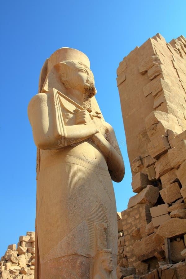 Ramses II - Ägypten-Pharao im Karnak Tempel stockfotos