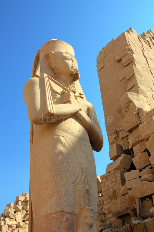 Ramses II - egypt pharaoh in Karnak temple stock photos