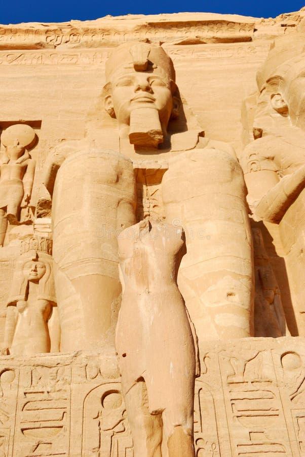 Ramses II em Abu Simbel fotografia de stock