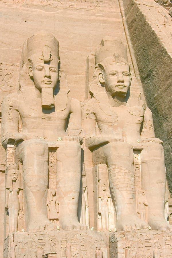 Ramses II en el templo del simbel del abu foto de archivo libre de regalías