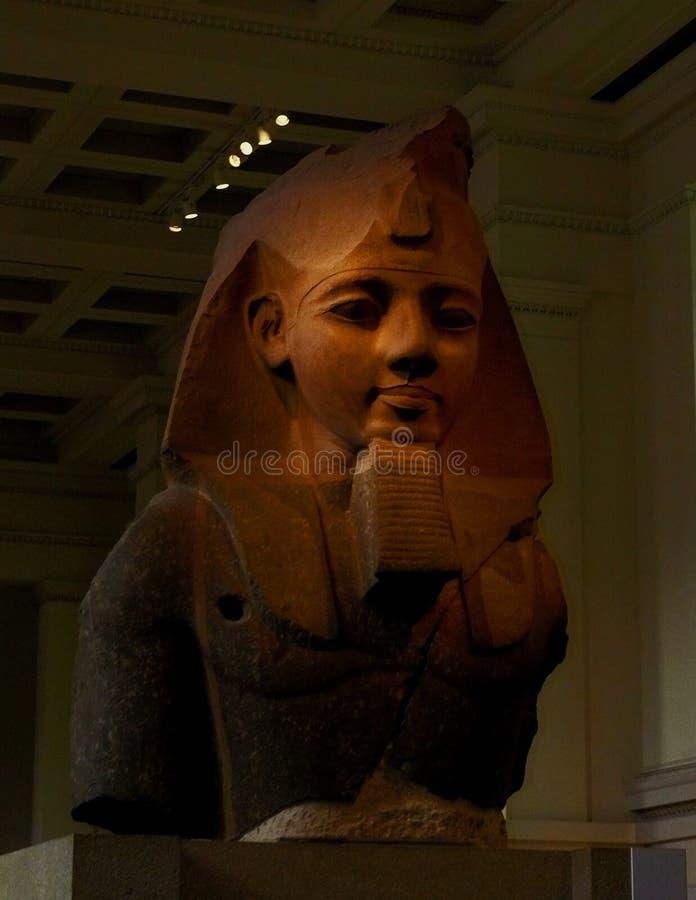 Ramses II a grande estátua de British Museum imagem de stock royalty free