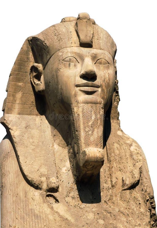 Ramses II isolato su bianco immagini stock