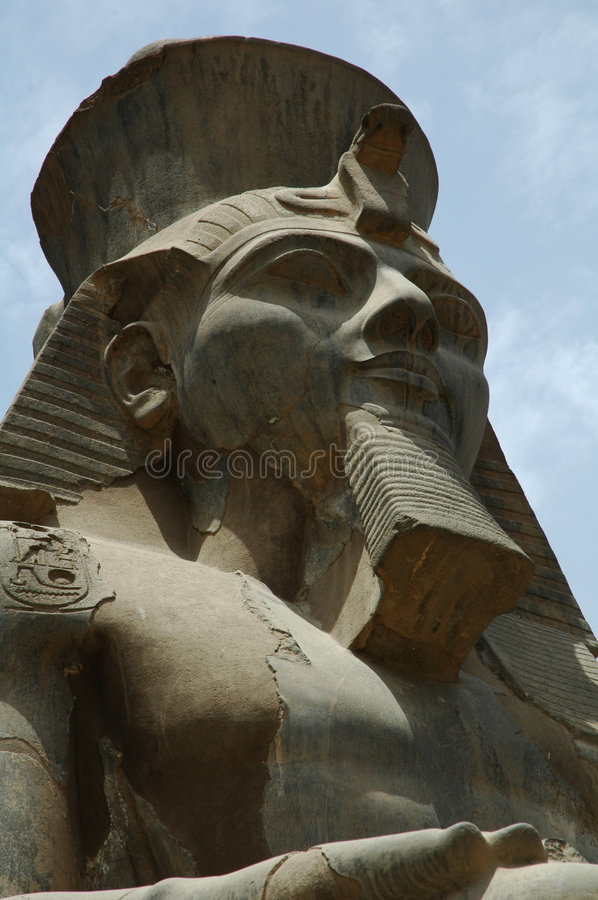 Ramses ii at luxor temple stock images