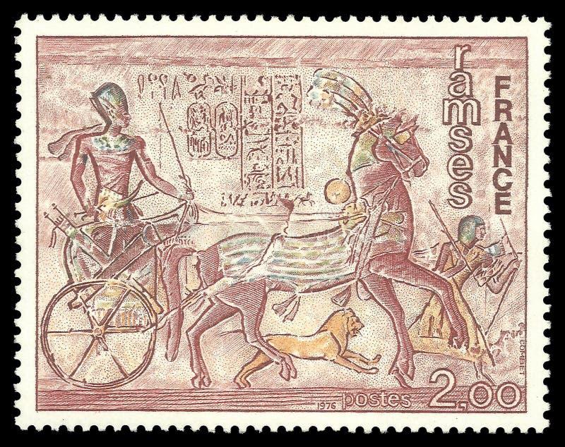 Ramses przy freskiem świątynia Abu Simbel obrazy stock