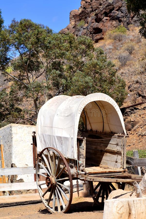Ramshackle wagon royalty free stock photo