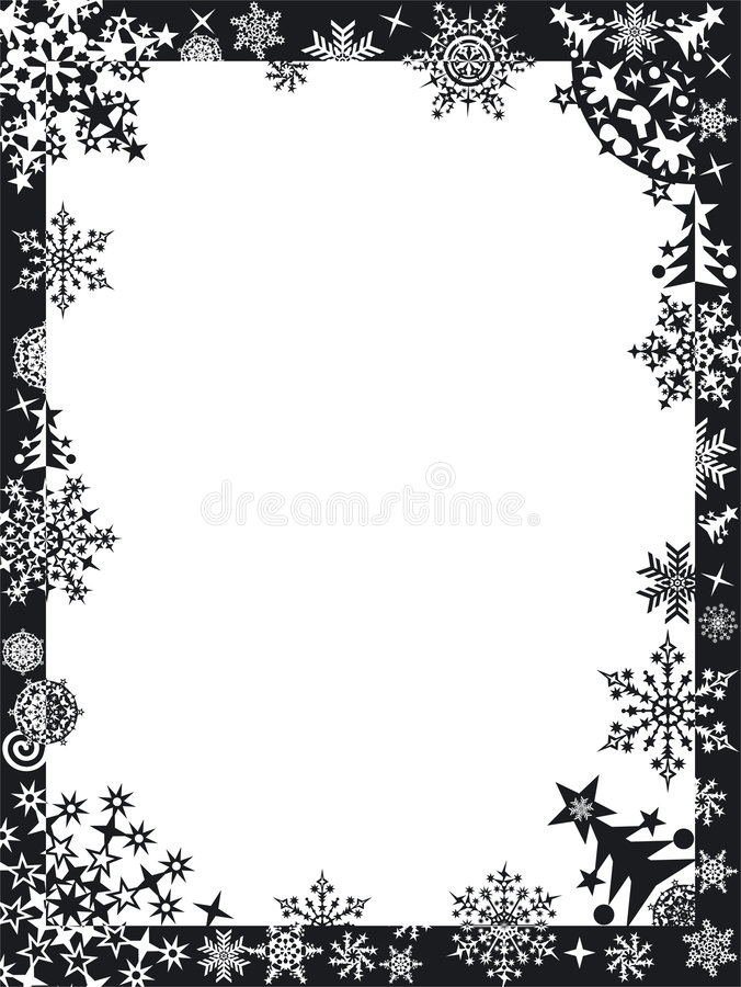 ramsnowflakesvinter royaltyfri illustrationer