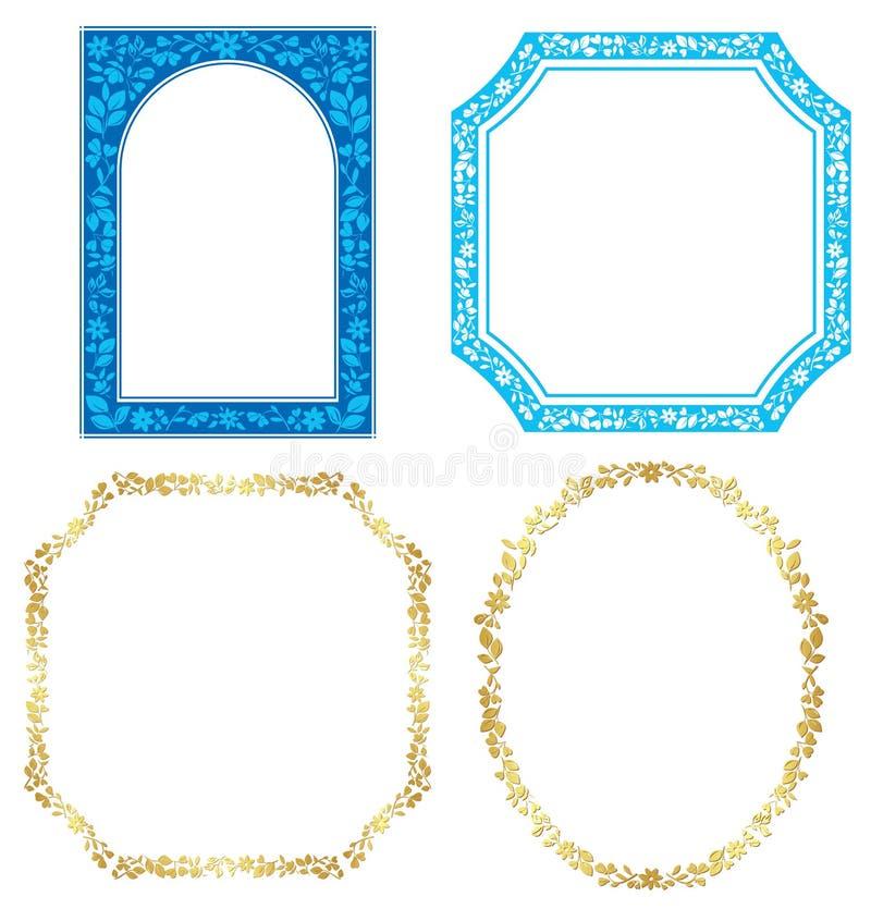 ramväxter ställde in vektorn stock illustrationer