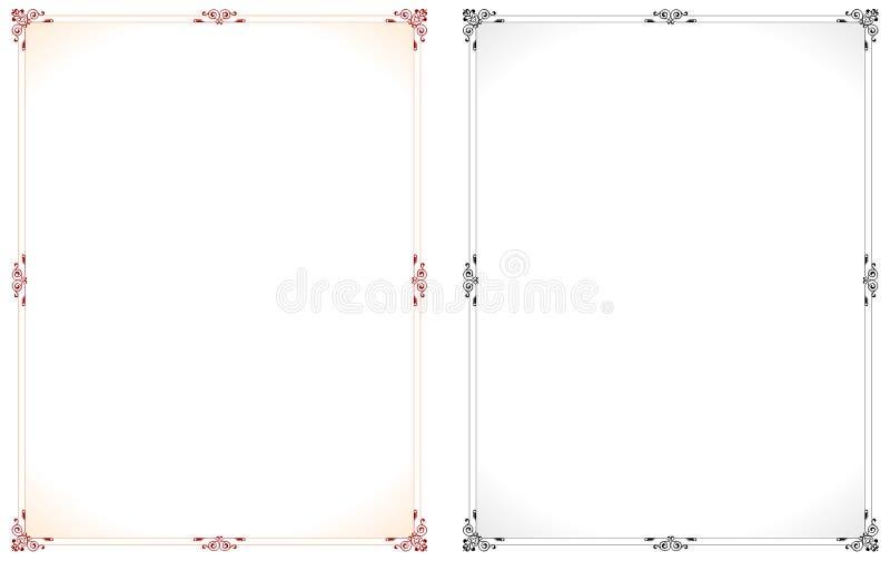ramvektor royaltyfri illustrationer