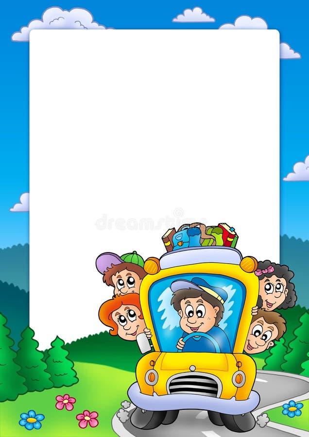 ramy autobusowa szkoła ilustracja wektor