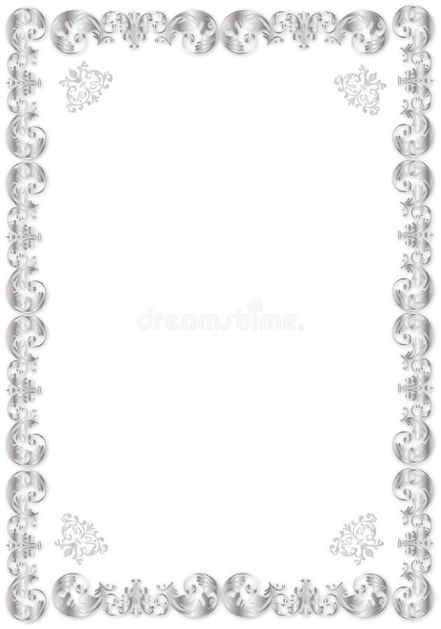 ramy dekoracyjny srebro ilustracja wektor