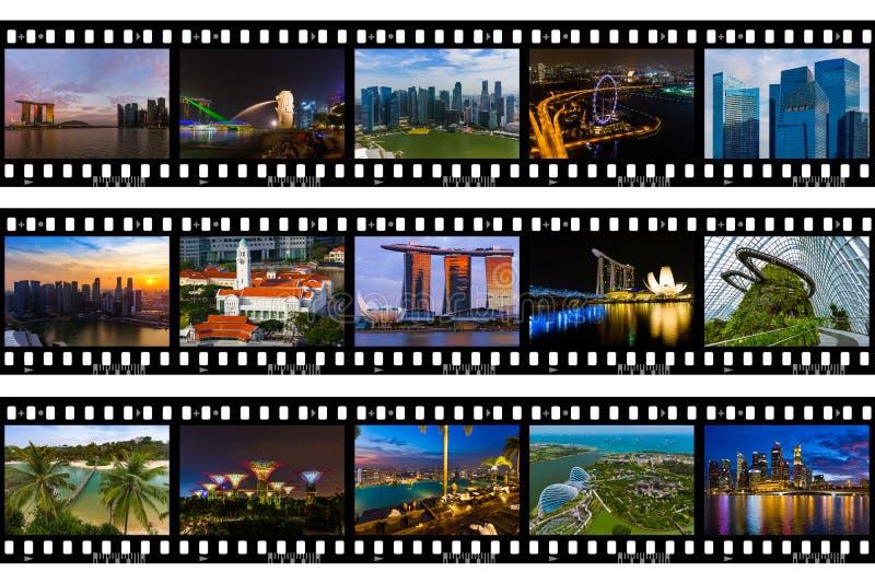 Ramy film - Singapur podróży wizerunki mój fotografie zdjęcie royalty free