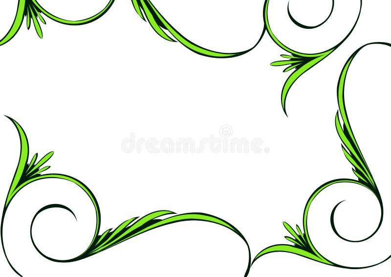 ramy kwiecista green royalty ilustracja