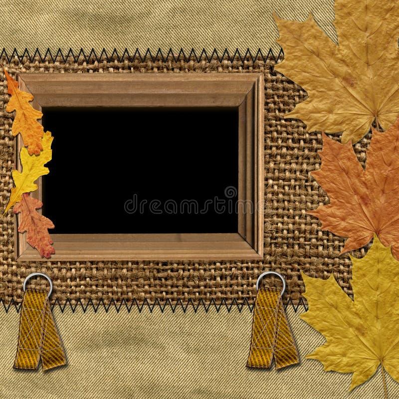 ramy liście jesienią ilustracji