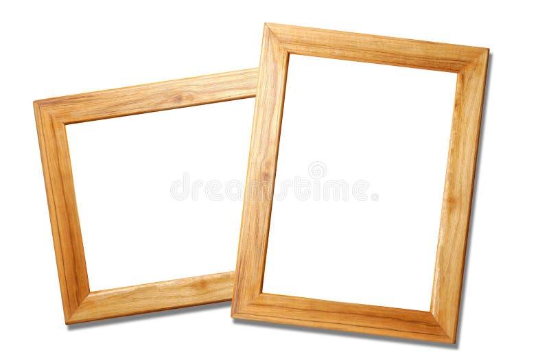 ramy obrazują dwa drewnianego obraz royalty free