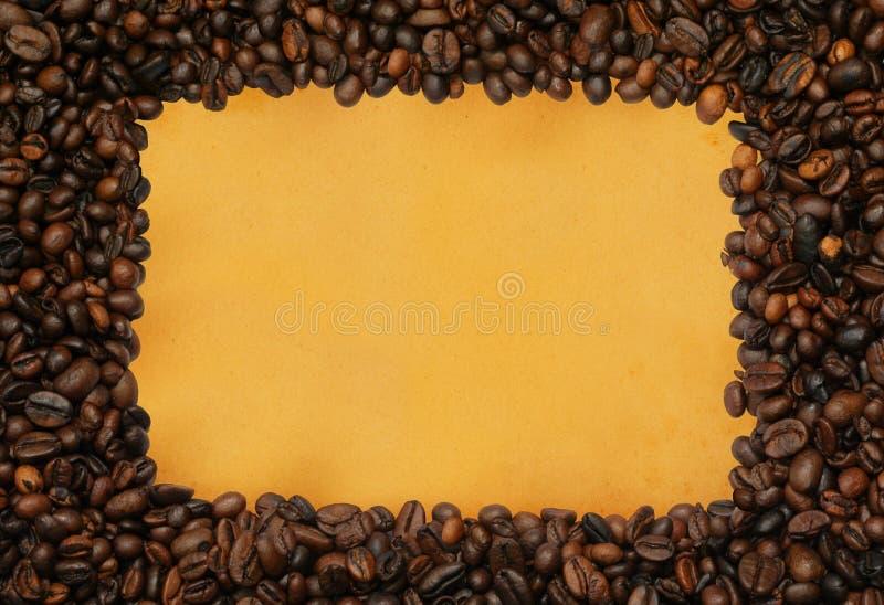 ramy papier yellowed kawy zdjęcia stock