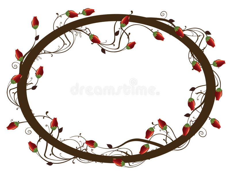 ramy rose round ilustracji